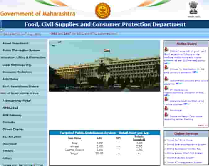 Check Maharashtra Ration Card List 2020